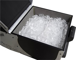Ice cubes in cooler compartment